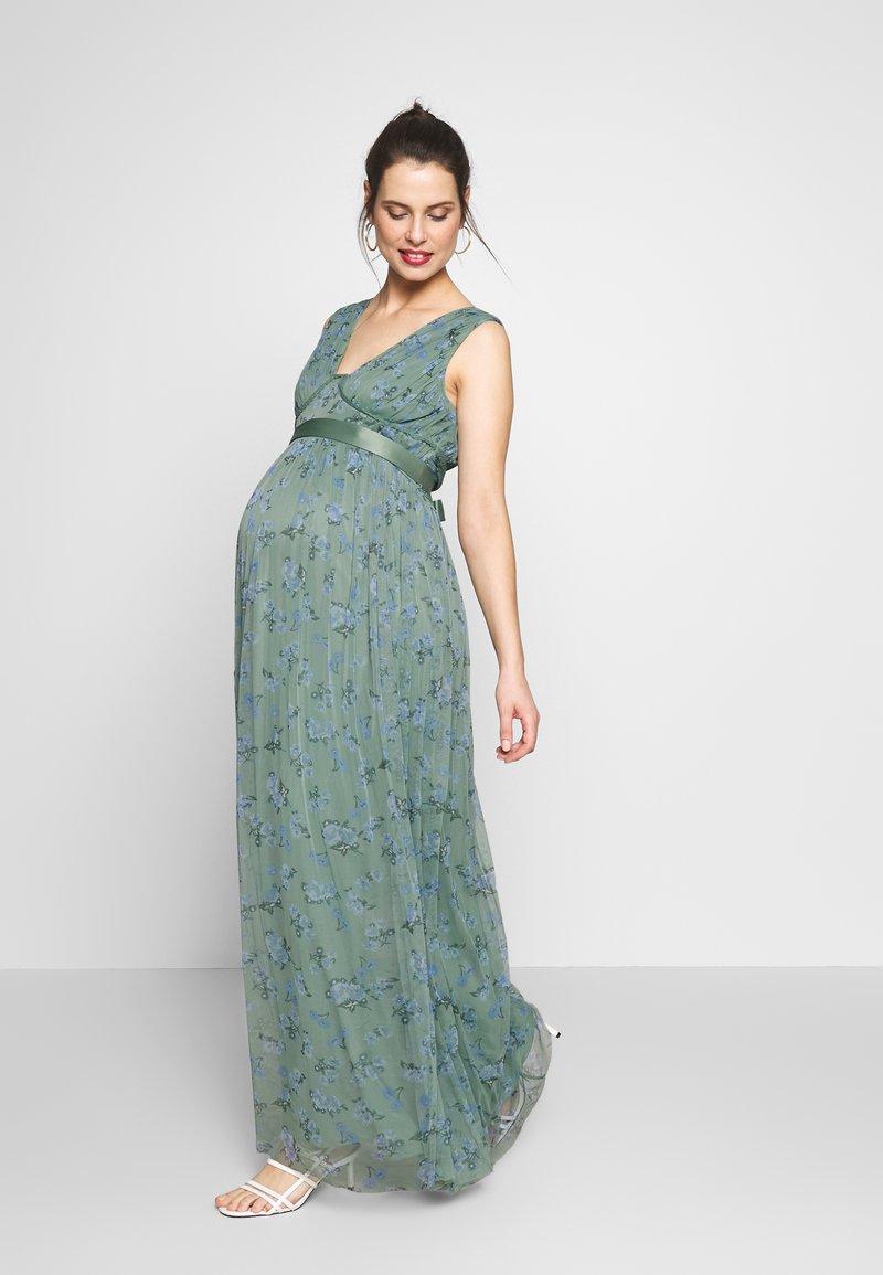 Anaya with love Maternity - SLEEVELESS V NECK MAXI DRESS - Společenské šaty - green