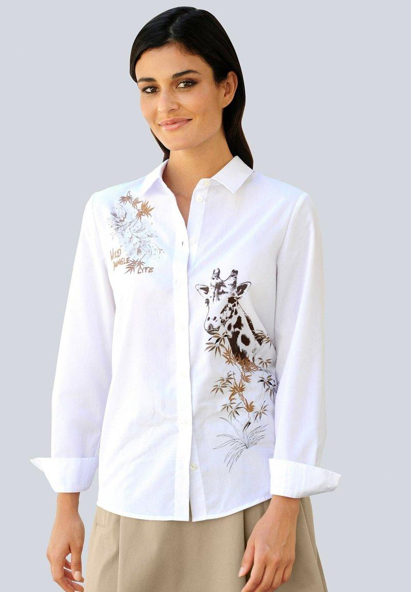 Alba Moda - Button-down blouse - weiß,beige