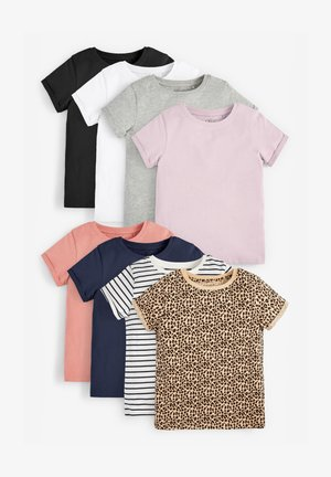 8 PACK - Camiseta estampada - grey, pink, black