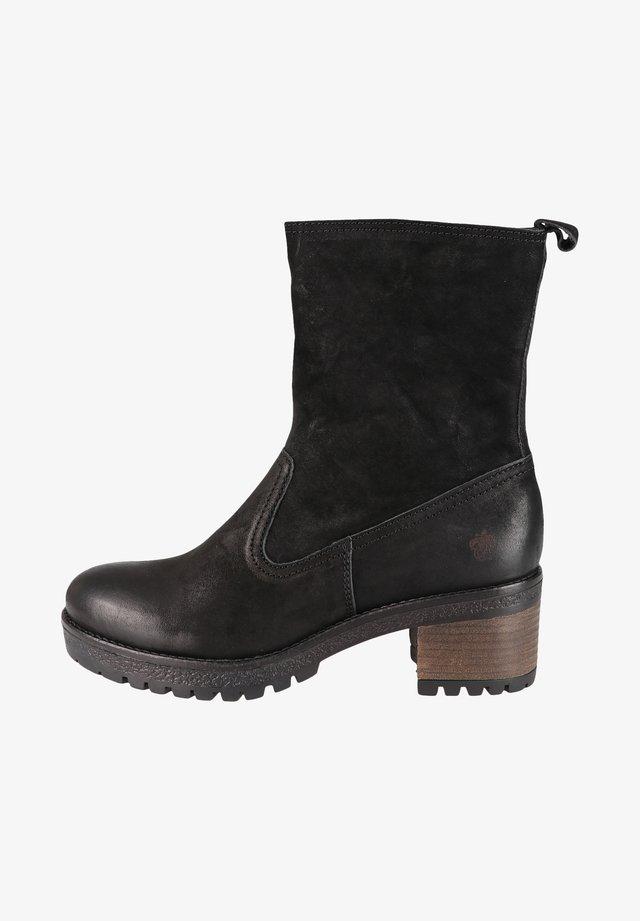 ANNE - Platform ankle boots - black