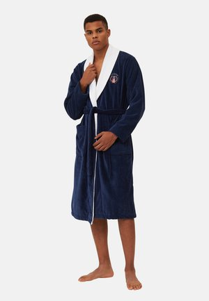 Dressing gown - dress blue white