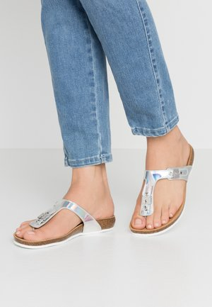 BIMINOIS - T-bar sandals - argent
