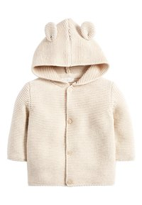 Next - OATMEAL HOODED EAR CARDIGAN (0MTHS-3YRS) - Vest - off-white - 0