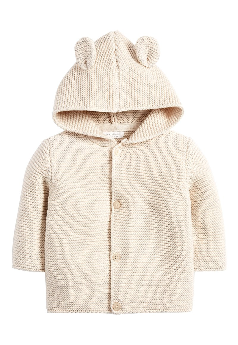 Next - OATMEAL HOODED EAR CARDIGAN (0MTHS-3YRS) - Vest - off-white