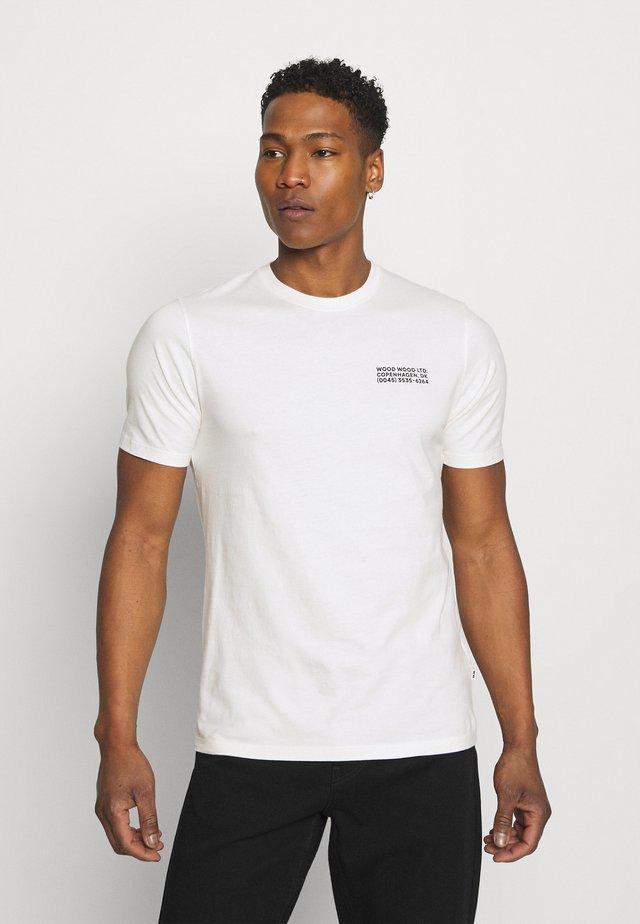 SAMI INFO - Print T-shirt - off-white