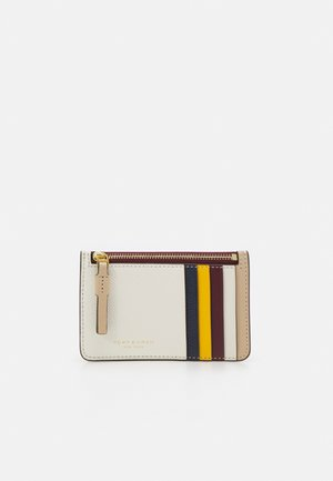 PERRY COLOR BLOCK TOP ZIP CARD CASE - Peněženka - new ivory /perfect sand
