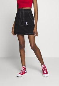 Karl Kani - SKIRT - A-line skirt - black/white - 0