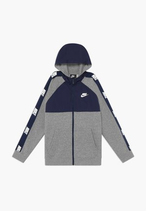 HYBRID - Felpa aperta - midnight navy/grey heather