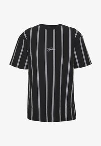 Topman - STRIPE SIGNATURE TEE - Print T-shirt - black - 4
