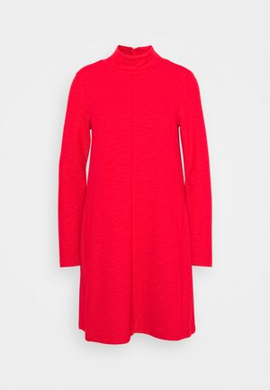 MOCK NECK DRESS OTTOMAN - Strikkjoler - pure red
