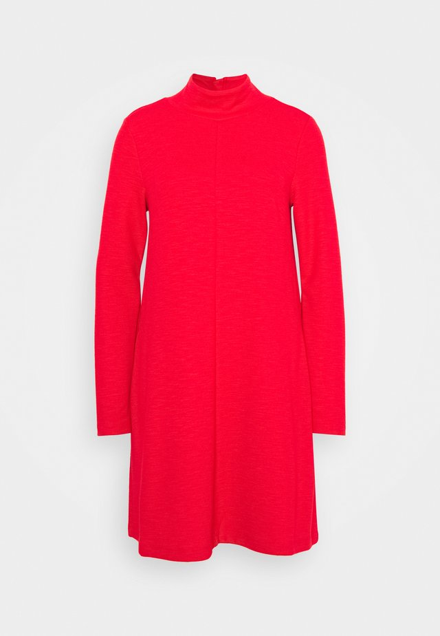 MOCK NECK DRESS OTTOMAN - Jumper dress - pure red