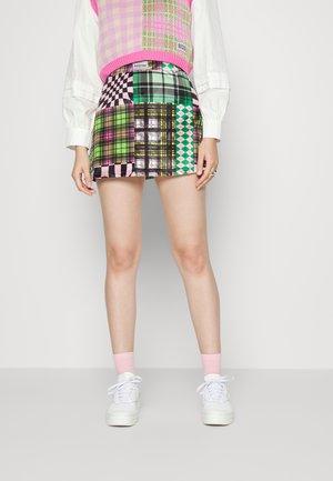 PATCHWORK SKIRT - Mini skirt - multi