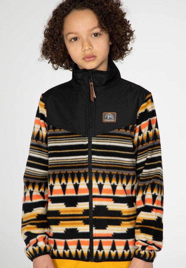 BRENT - Fleece jacket - dark yellow