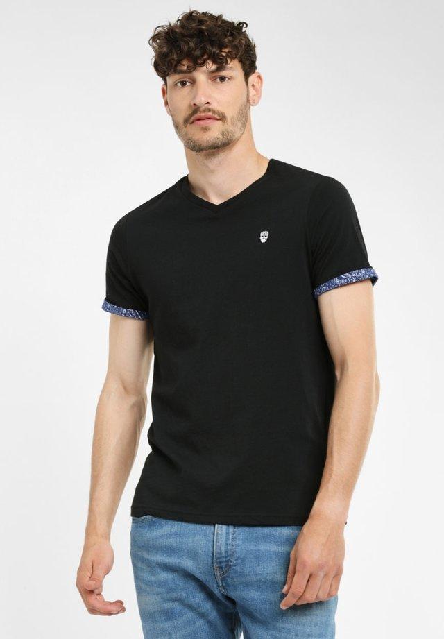 VOURTANOS - T-shirt basic - black