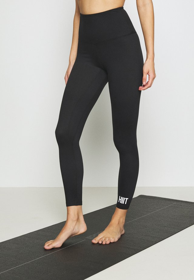 STUDIO PEACHED CORE LEGGING - Legging - black