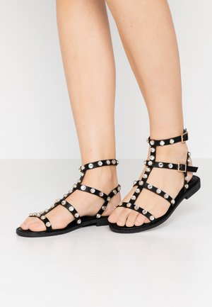 BEJEWELLED GLADIATOR - Sandalias - black