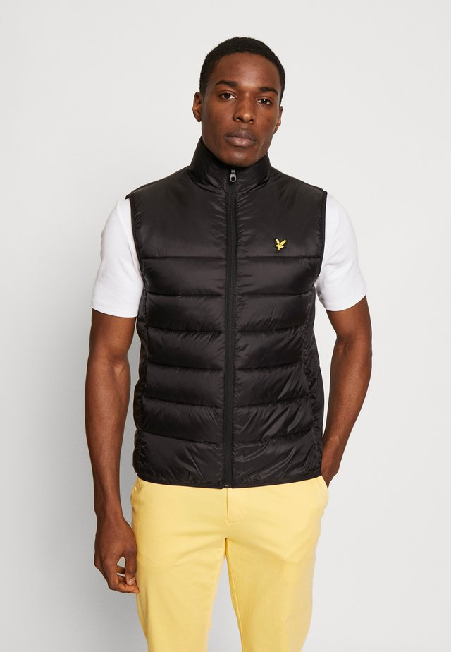 WADDED GILET - Bodywarmer - jet black