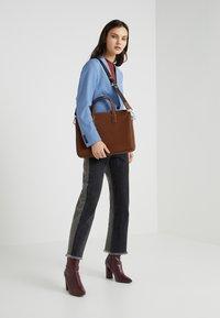 BOSS - CROSSTOWN  ZIPS - Briefcase - light pastel brown - 5