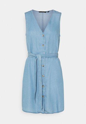 VMVIVIANA SHORT DRESS - Farkkumekko - light blue denim