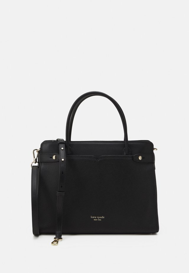 LARGE SATCHEL - Handväska - black