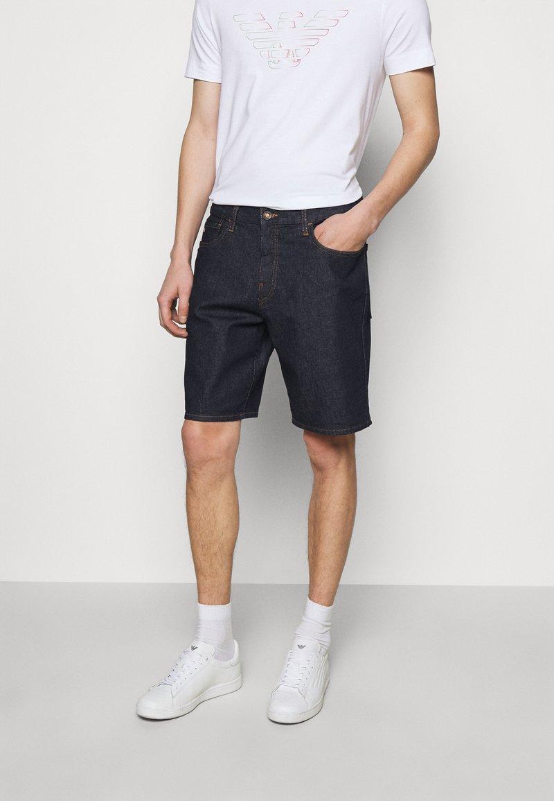 Emporio Armani - Denim shorts - dark blue
