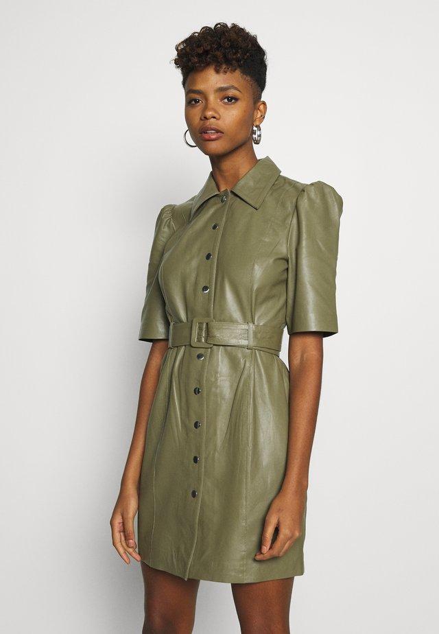 OBJSTAR  DRESS  - Shirt dress - burnt olive