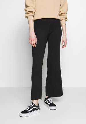 STINA TROUSERS - Bukser - black