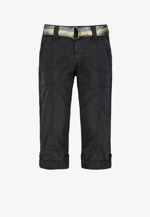 MIT GÜRTEL - Shorts - dark-grey