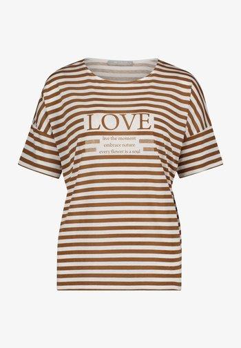 T-shirt imprimé - weiß/braun