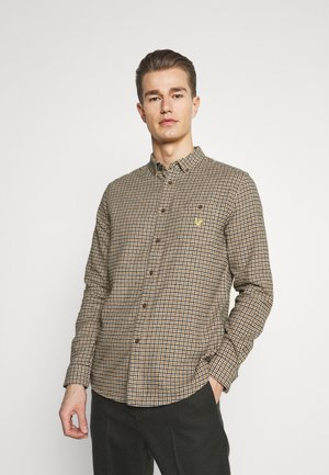 ARCHIVE CHECK SHIRT RELAXED FIT - Shirt - sesame check