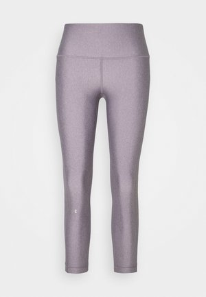 HI RISE CROP - Legginsy - slate purple light heather