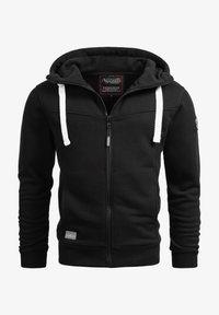 Alessandro Salvarini - Zip-up sweatshirt - schwarz - 0