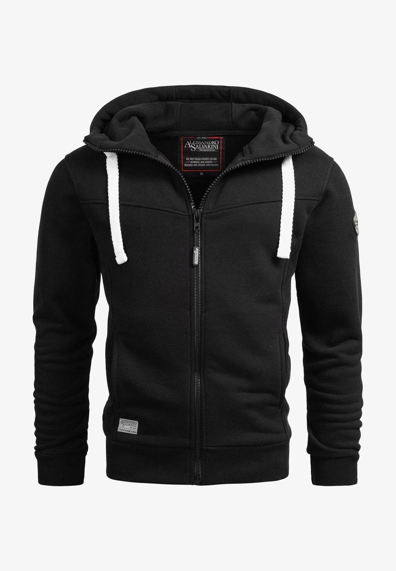 Alessandro Salvarini - Zip-up sweatshirt - schwarz