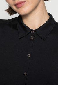 Marc O'Polo - BLOUSE LONG SLEEVE COLLAR BUTTON PLACKET - Button-down blouse - black - 4