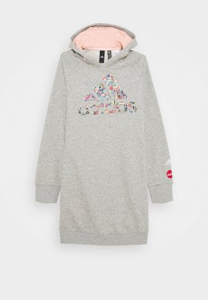 ART - Hoodie - medium grey heather/haze coral
