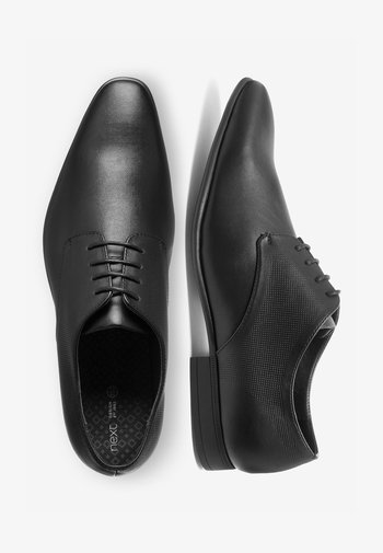 TAN TEXTURED DERBY SHOE - Stringate eleganti - black