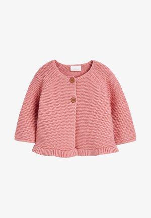 PINK FRILL HEM - Cardigan - pink