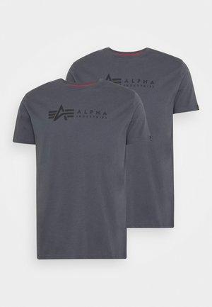 ALPHA LABEL 2 PACK - T-shirt con stampa - greyblack/black