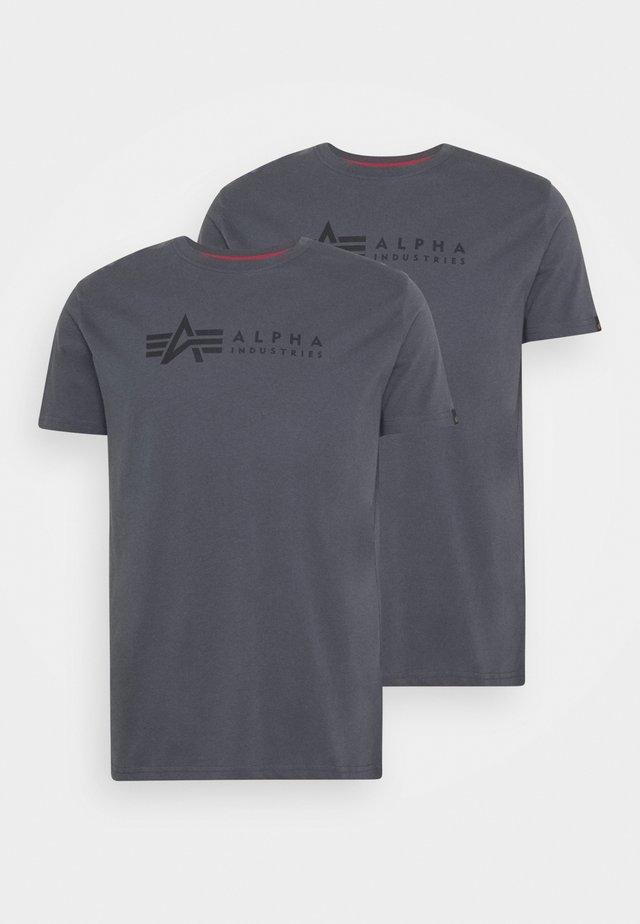 ALPHA LABEL 2 PACK - Print T-shirt - greyblack/black