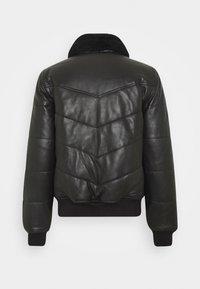Schott - DOWN - Leather jacket - black - 1