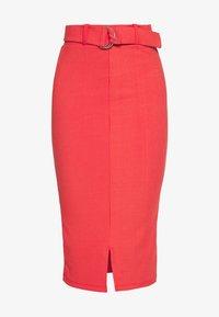 NORA SKIRT - Spódnica ołówkowa  - red