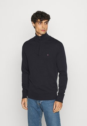 BLEND ZIP MOCK - Jumper - blue