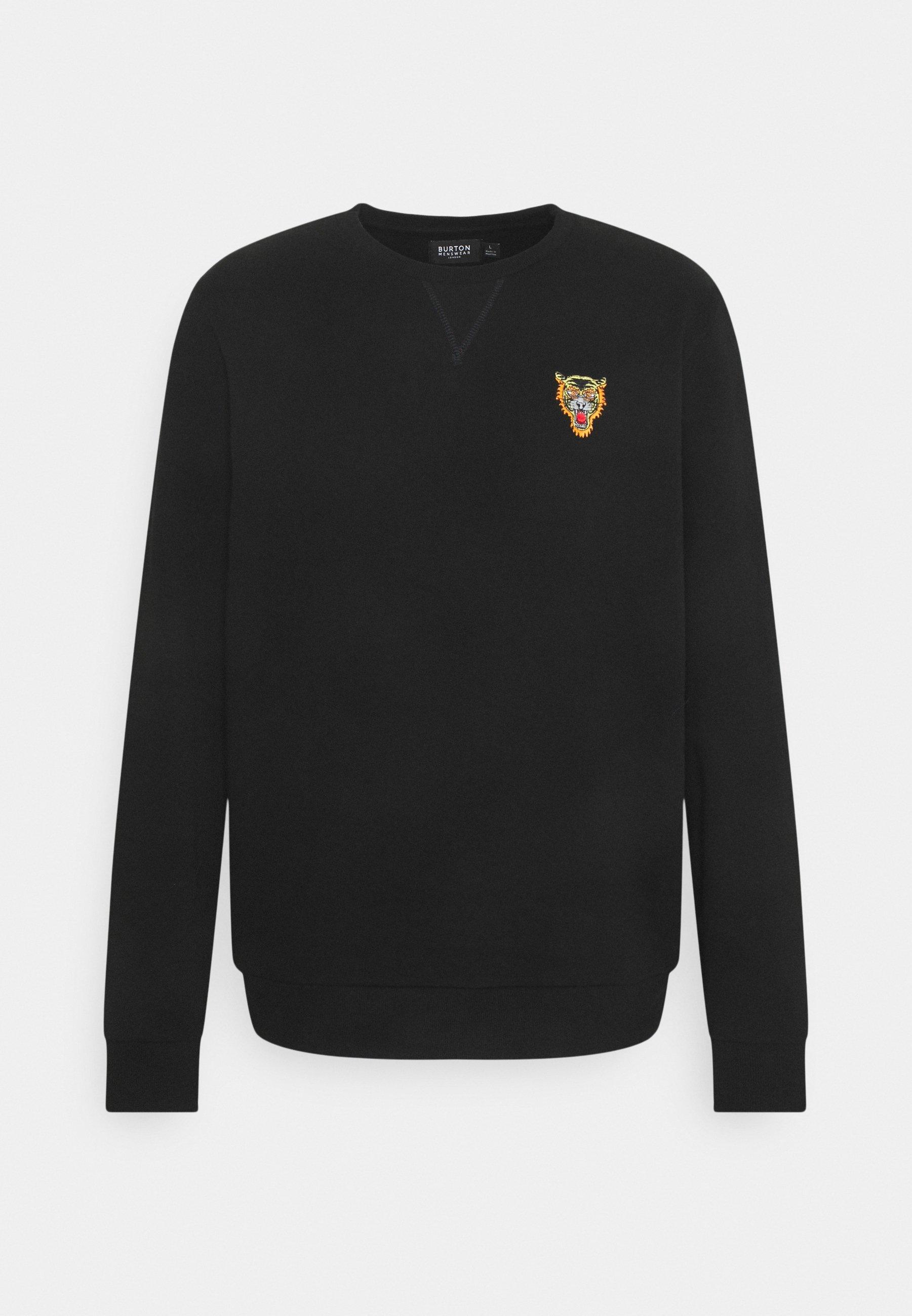 Men TIGER EMBROIDERED CREW - Sweatshirt