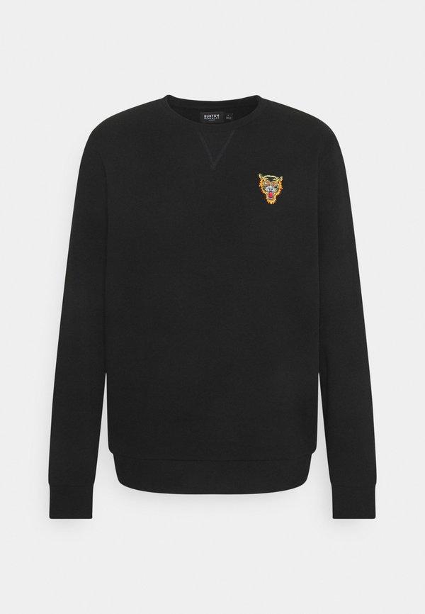 Burton Menswear London TIGER EMBROIDERED CREW - Bluza - black/czarny Odzież Męska OTMC