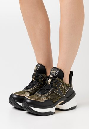 OLYMPIA TRAINER - Sneakersy niskie - black/gold