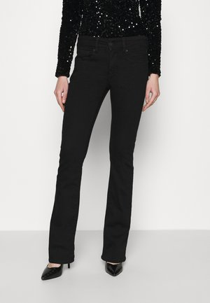 KICK BOOT - Flared jeans - bold black