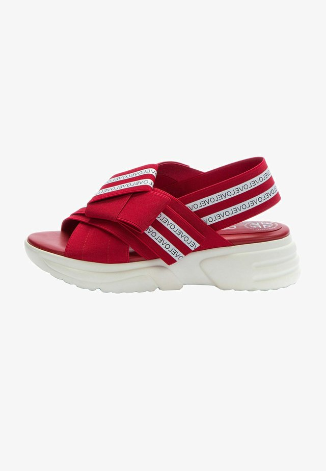 Sandals - red   white