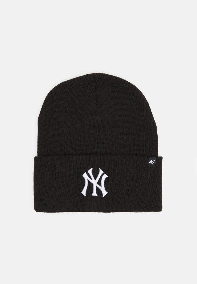 NEW YORK YANKEES HAYMAKER CUFF UNISEX - Beanie - black