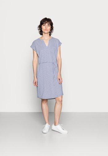 ILIMA - Jersey dress - gray blue stripe