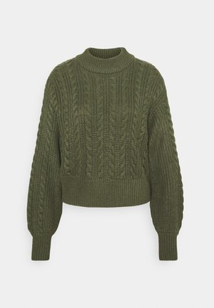 TITTI - Pullover - khaki green medium dusty unique